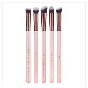 Luxie Rose Gold Detail Face Makeup Brush Kit